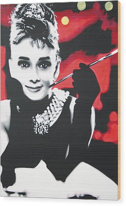- Breakfast At Tiffannys -  Wood Print by Luis Ludzska