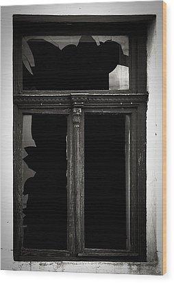 Broken Window Wood Print by Calinciuc Iasmina