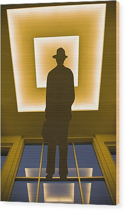 Business Man 2816955 Wood Print by Andrew Kubica