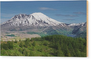 Castle Lake And Mt. St. Helens Wood Print