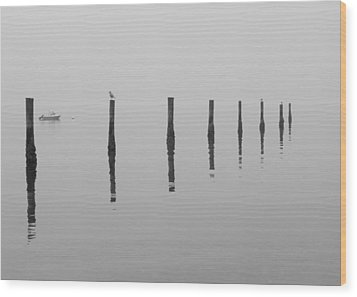 Fog And Reflections Wood Print by Christina Lihani