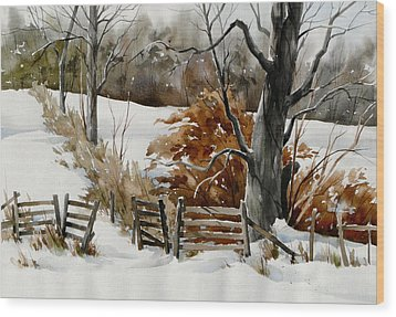 Cold Gate Wood Print by Art Scholz