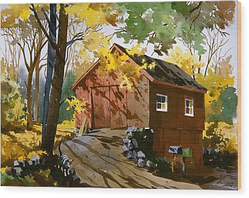 Country Cat    Wood Print by Art Scholz