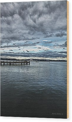 Dock In The Bay Wood Print by DMSprouse Art