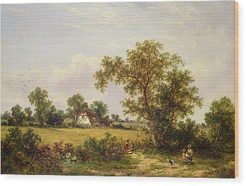Essex Landscape  Wood Print by James Edwin Meadows