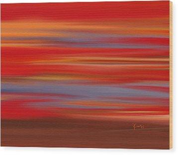 Wood Print featuring the digital art  Evening In Ottawa Valley by Rabi Khan