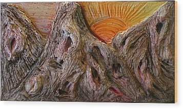Expression Caves Wood Print by Kime Einhorn