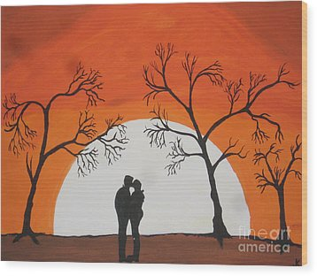 First Kiss Wood Print by Jeffrey Koss
