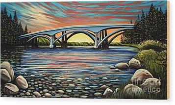 Folsom Bridge Wood Print