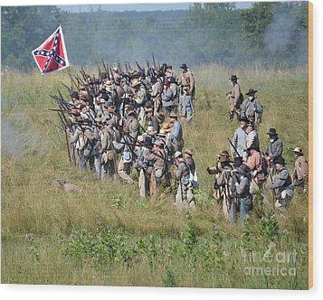 Gettysburg Confederate Infantry 9015c Wood Print