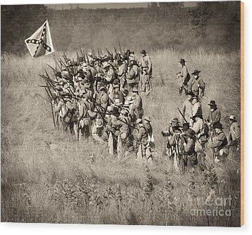 Gettysburg Confederate Infantry 9015s Wood Print