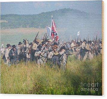 Gettysburg Confederate Infantry 9214c Wood Print