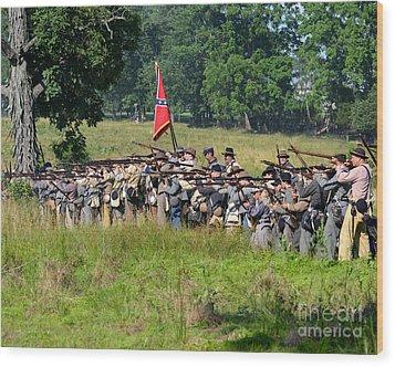 Gettysburg Confederate Infantry 9270c Wood Print