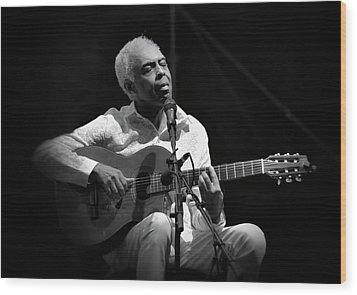 Gilberto Gil   Black And White Wood Print