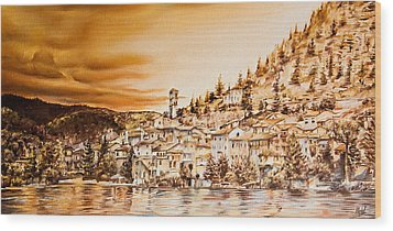Golden Reflections Wood Print by Michel Angelo Rossi