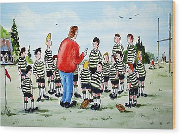 Half Time Wood Print by Wilfred McOstrich