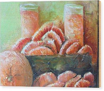 Mandarin Oranges  Wood Print