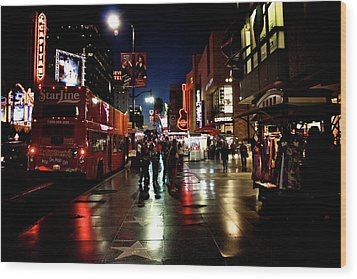 Hollywood Blvd. Wood Print by Amber Abbott