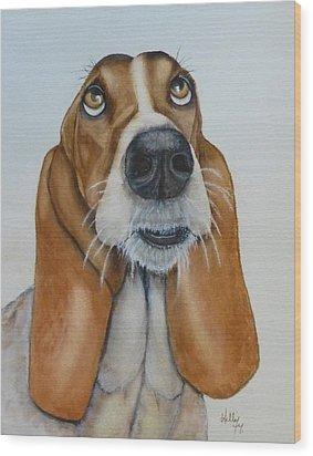 Hound Dog's Pleeease Wood Print by Kelly Mills
