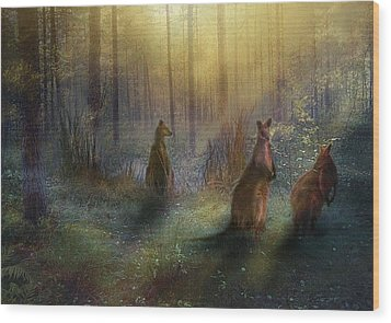 Hush Wood Print by Trudi Simmonds
