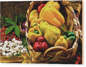 Italian Peppers  Wood Print by Harry Spitz