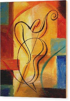 Jazz Fusion Wood Print by Leon Zernitsky