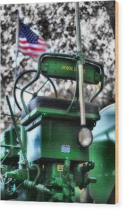 John Deere American Tractor Wood Print by Ben Michalski