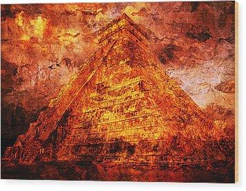 Kukulcan Pyramid Wood Print by J- J- Espinoza