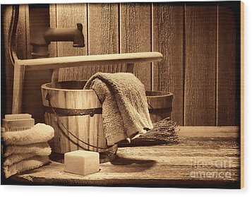 Laundry At The Ranch Wood Print by American West Legend By Olivier Le Queinec