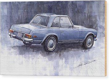 Mercedes Benz 280 Sl W113 Pagoda  Wood Print by Yuriy  Shevchuk