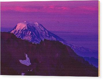 Mt. Rainier Sunrise Wood Print