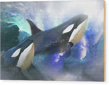 Orca Wild Wood Print by Trudi Simmonds
