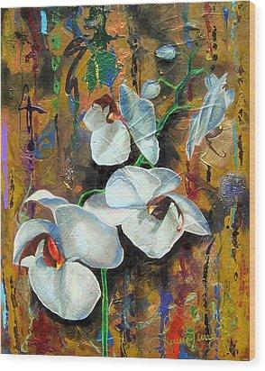 Orchid Yo Wood Print by Laura Pierre-Louis