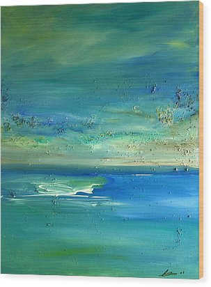 Pearls Of Tranquility Seascape 1 Wood Print