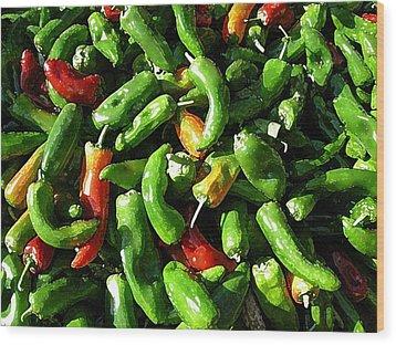 Peppers Framers Market Sicily Wood Print
