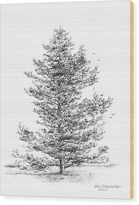 Pine Wood Print by Jim Hubbard