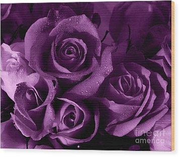 Purple Haze Wood Print by Nancie DeMellia