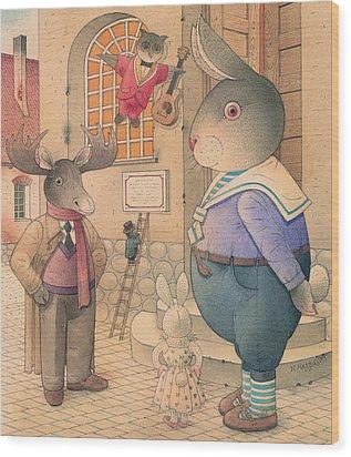 Rabbit Marcus The Great 21 Wood Print by Kestutis Kasparavicius