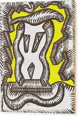 Rockscape Wood Print by Al Goldfarb
