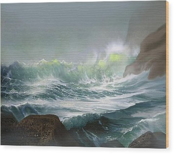 Seaswell Wood Print by Robert Foster