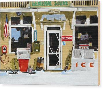 Soda 'n  Gas Wood Print by Art Scholz