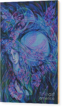 Song Of Lilac Wood Print by Anna  Duyunova