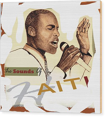 Sounds Of Haiti Poster Wood Print by Bob Salo