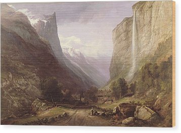 Swiss Scene Wood Print by Samuel Jackson