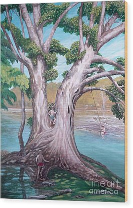 Sycamore On The Shenandoah River Wood Print by Frances  Dillon