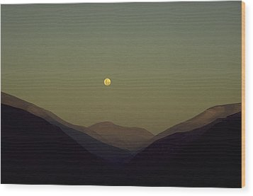 The Andes Mood Wood Print by Michael Mogensen
