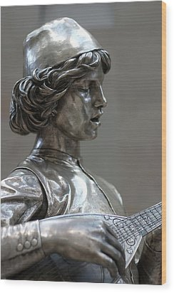 The Lute Player Wood Print by Carl Purcell