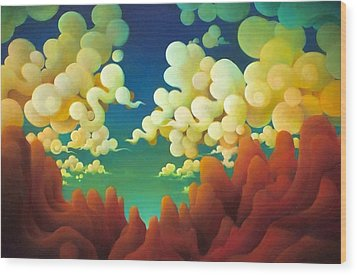 The Sky There Before Us Wood Print by Richard Dennis