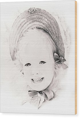 Trudy Wood Print by Rachel Christine Nowicki