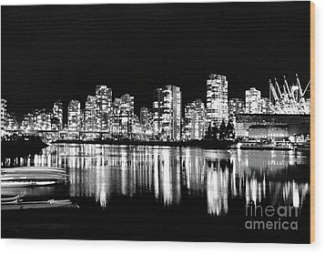 Vancouvers Silver Lining  Wood Print by Dean Edwards
